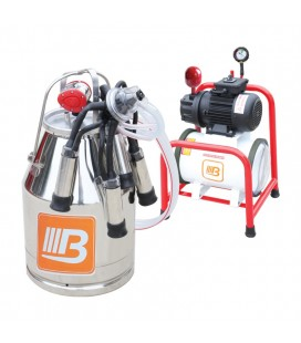 Доилен апарат 30 литра с устойчив алуминиев съд
