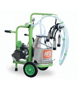 Доилен апарат за две кози 30 литра с алуминиев съд